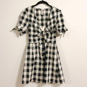 Bec & Bridge Gingham Tartine Tie Dress